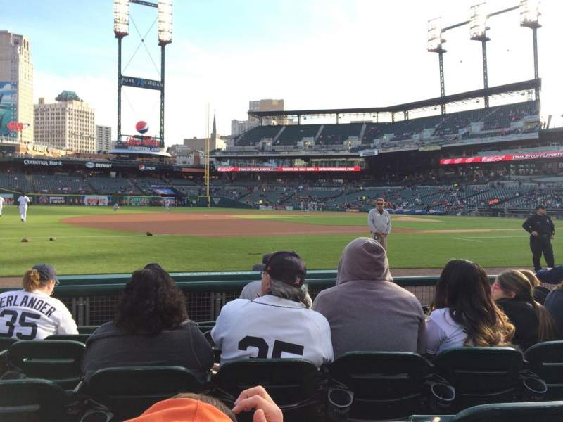 Seating view for Comerica Park Section 137 Row 7 Seat 8
