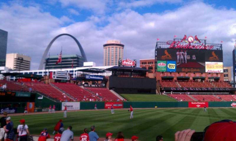 Seating view for Busch Stadium Section champions club