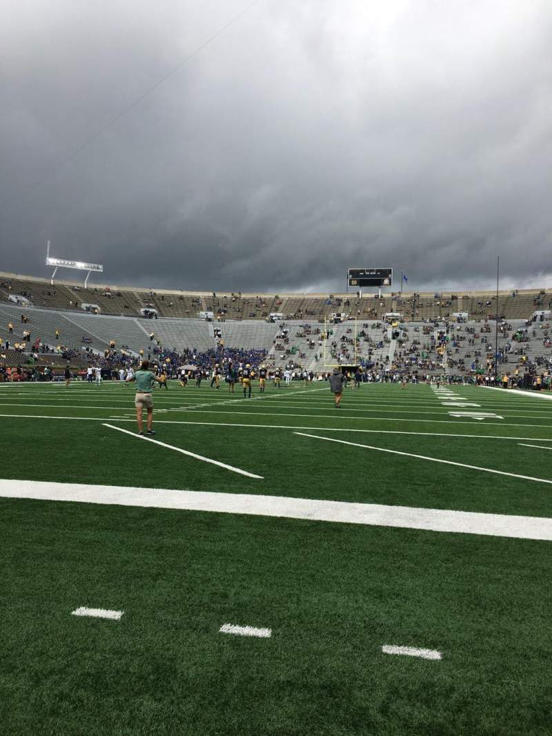 Seating view for Notre Dame Stadium Section F17 Row C Seat 10
