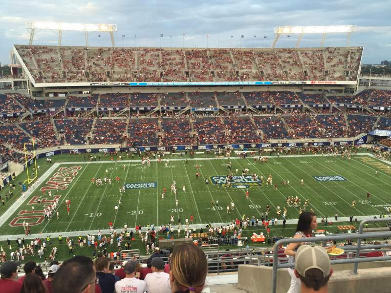 Seating view for Camping World Stadium Section 236 Row R Seat 5
