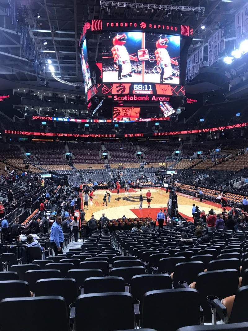 Seating view for Scotiabank Arena Section 114 Row 15 Seat 13