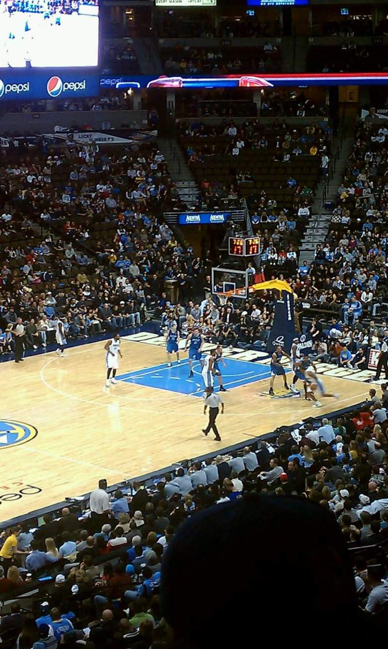 Seating view for Pepsi Center Section 2 Row 2 Seat 10
