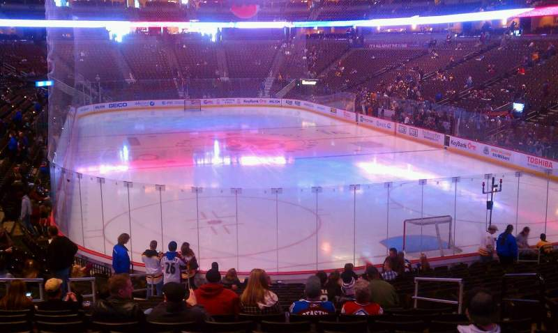 Seating view for Pepsi Center Section 116 Row 20 Seat 8