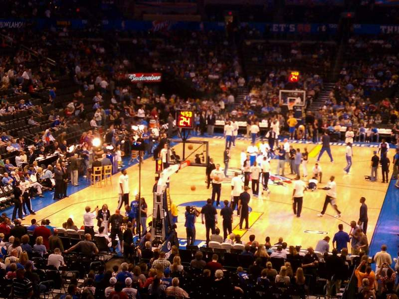 Seating view for Chesapeake Energy Arena Section 214 Row b  Seat 12