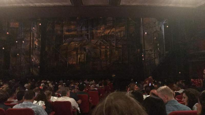 Seating view for Broadway Theatre - 53rd Street Section ORCH Row T Seat 1