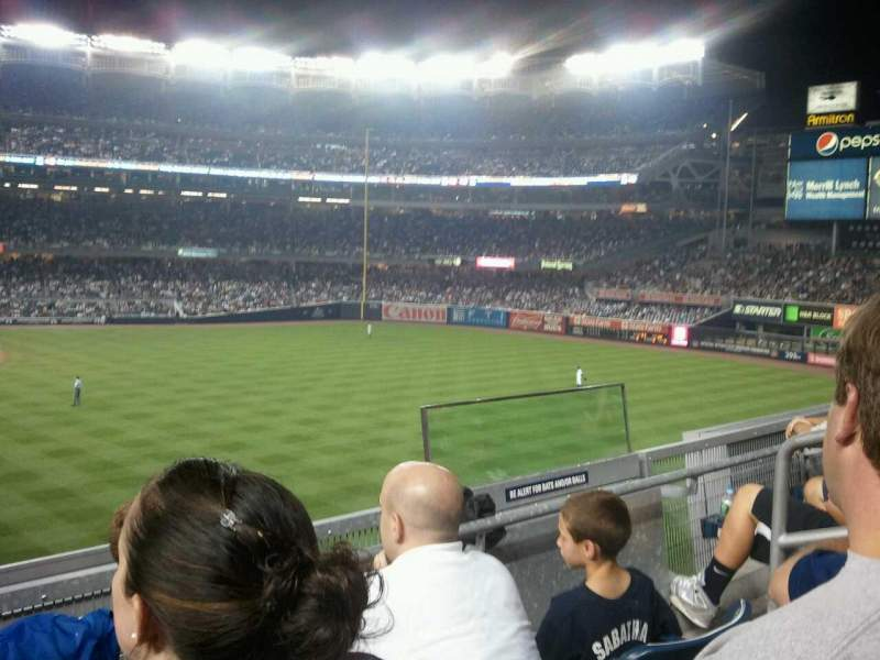 Seating view for Yankee Stadium Section 206 Row 3 Seat 6
