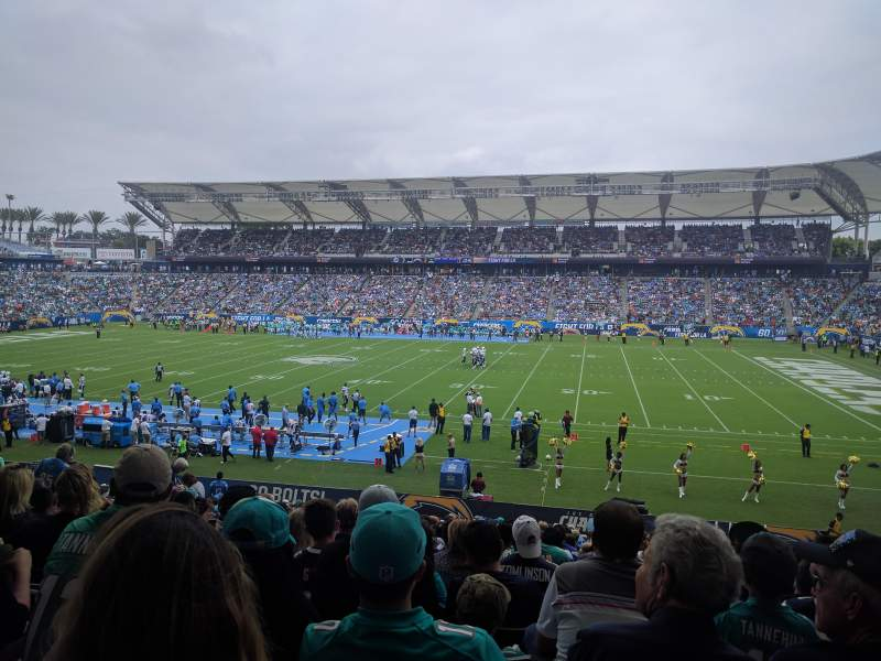 Seating view for Dignity Health Sports Park Section 109 Row Z Seat 10