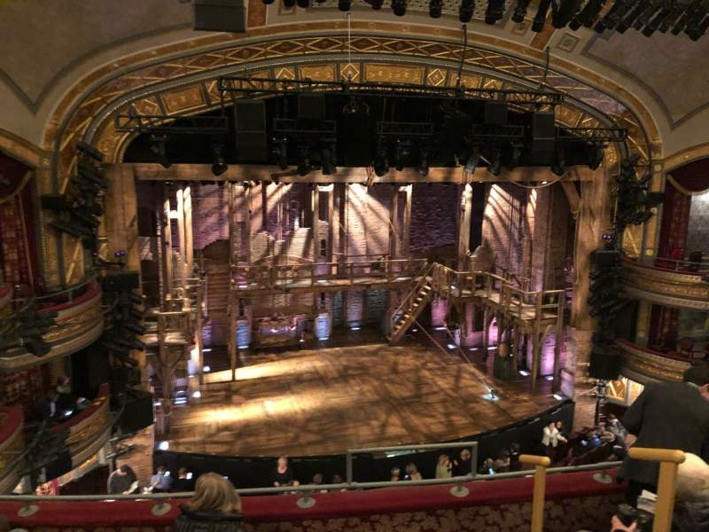 Seating view for Richard Rodgers Theatre Section Front Mezzanine L Row E Seat 7