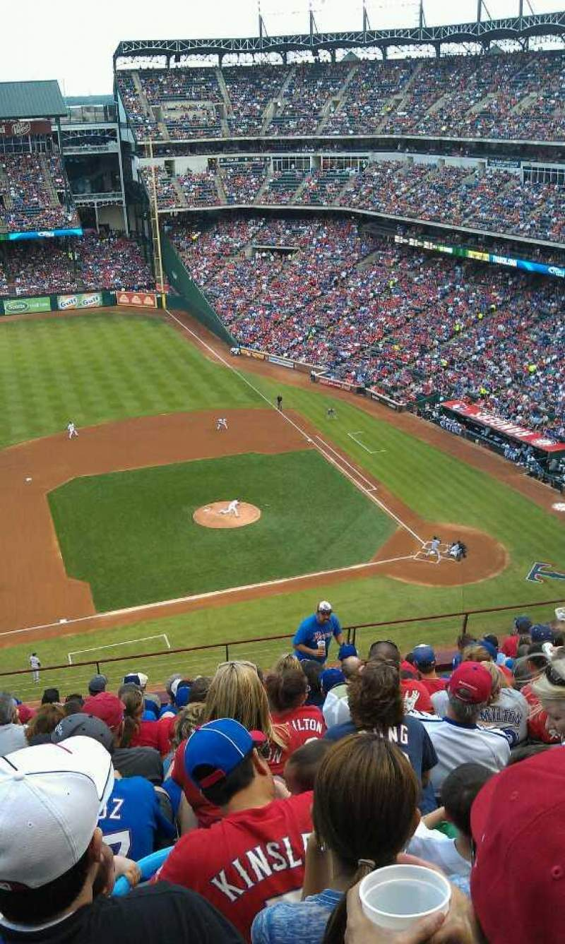 Seating view for Globe Life Park in Arlington Section 319 Row 13 Seat 4