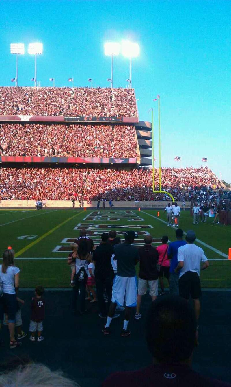 Seating view for Kyle Field Section 102 Row 3 Seat 13