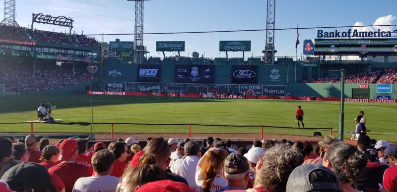 Seating view for Fenway Park Section Field Box 11 Row M Seat 4