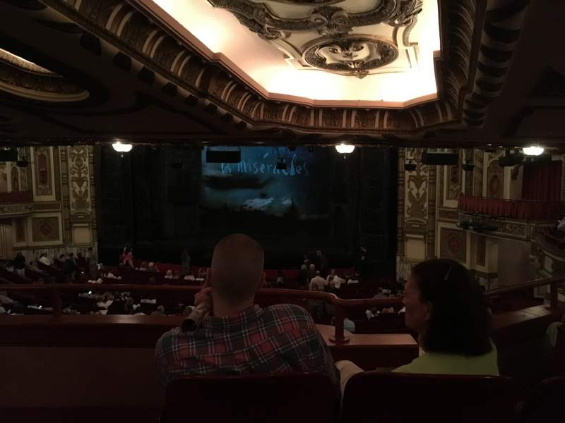 Seating view for Cadillac Palace Theater Section Dress Circle R Row 00 Seat 10