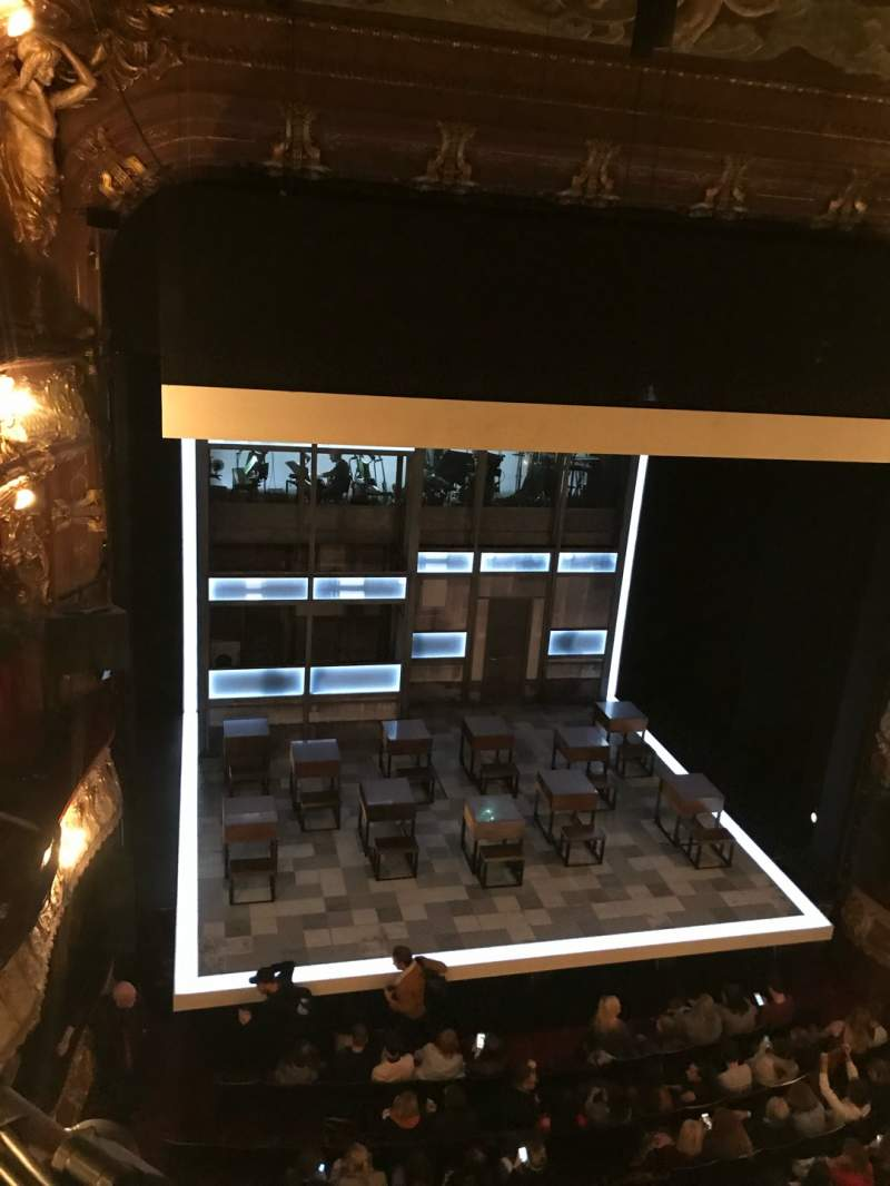 Seating view for Apollo Theatre Section Grand Circle Row A Seat 25-26