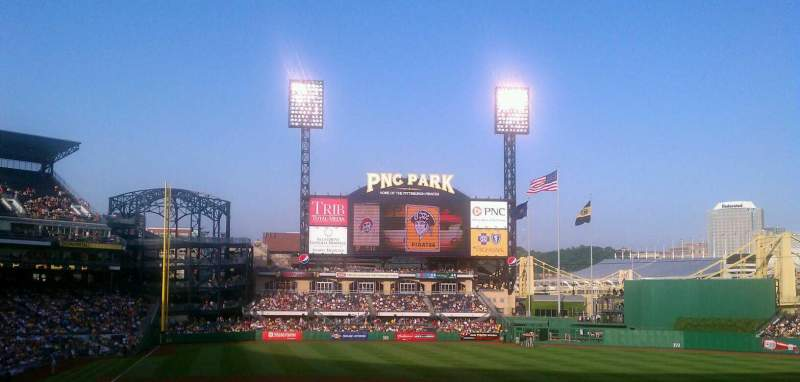 Seating view for PNC Park Section 113 Row DD Seat 1