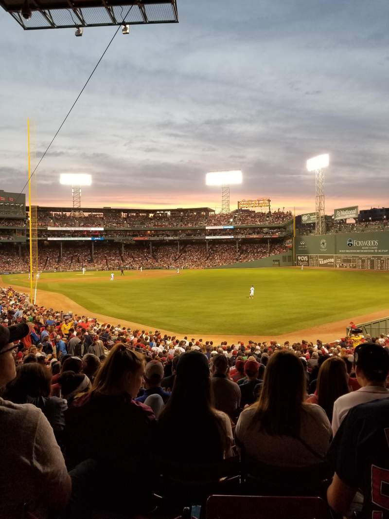 Seating view for Fenway Park Section Grandstand 4 Row 1 Seat 7