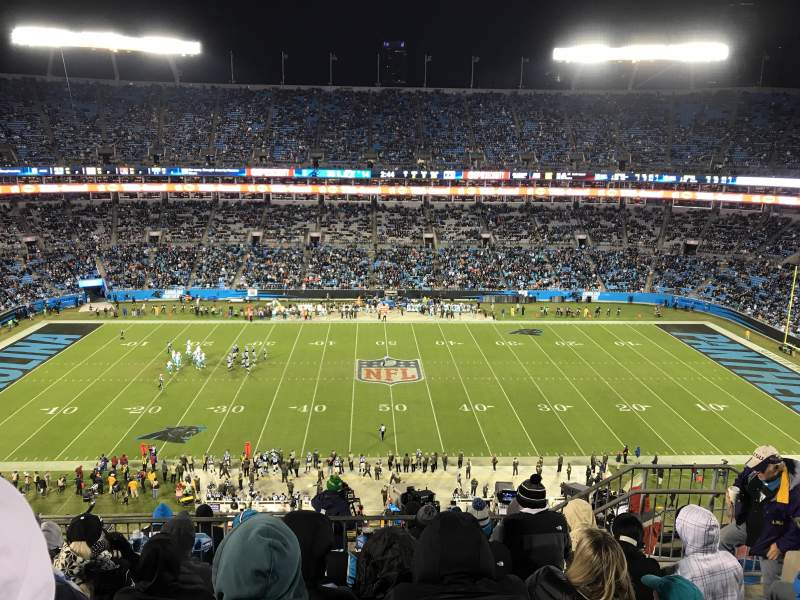 Bank of America Stadium, section: 542, row: 6, seat: 10