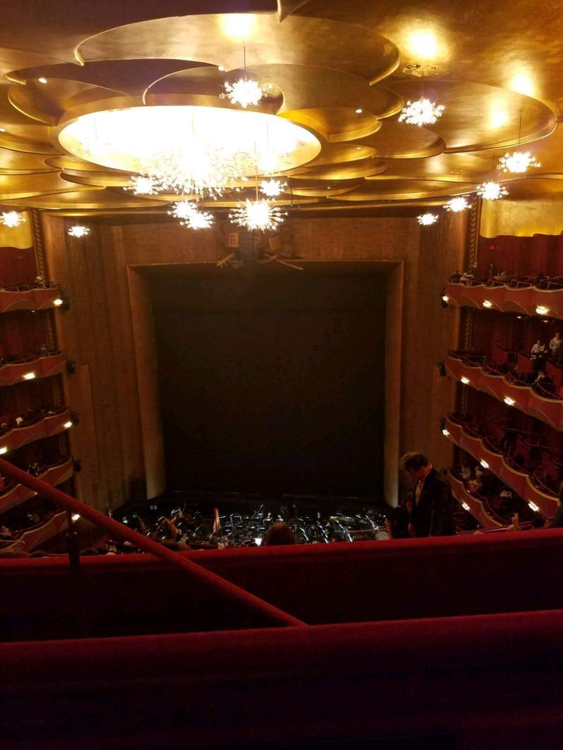 Seating view for Metropolitan Opera House - Lincoln Center Section Family Circle Row B Seat 206