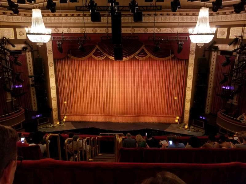 Seating view for Imperial Theatre Section Rear Mezzanine 3 Row B Seat 6