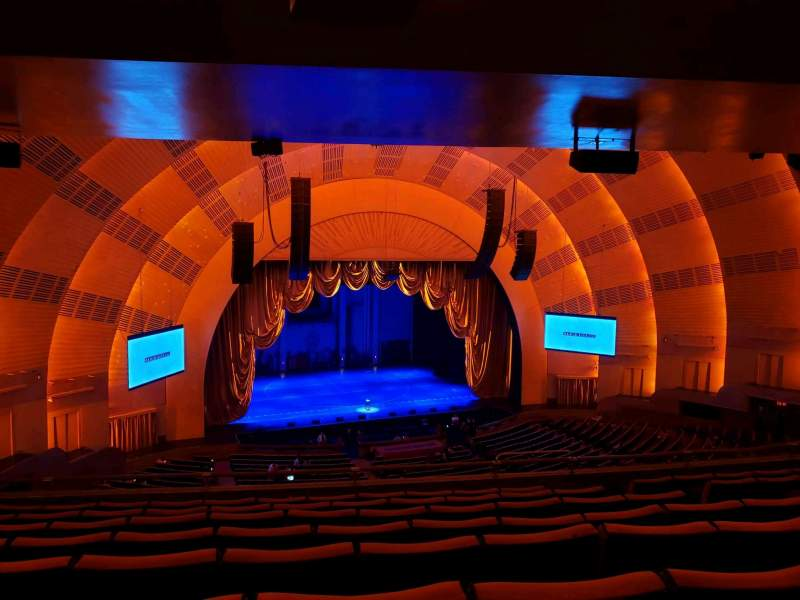 Seating view for Radio City Music Hall Section 2nd Mezzanine 6 Row H Seat 607