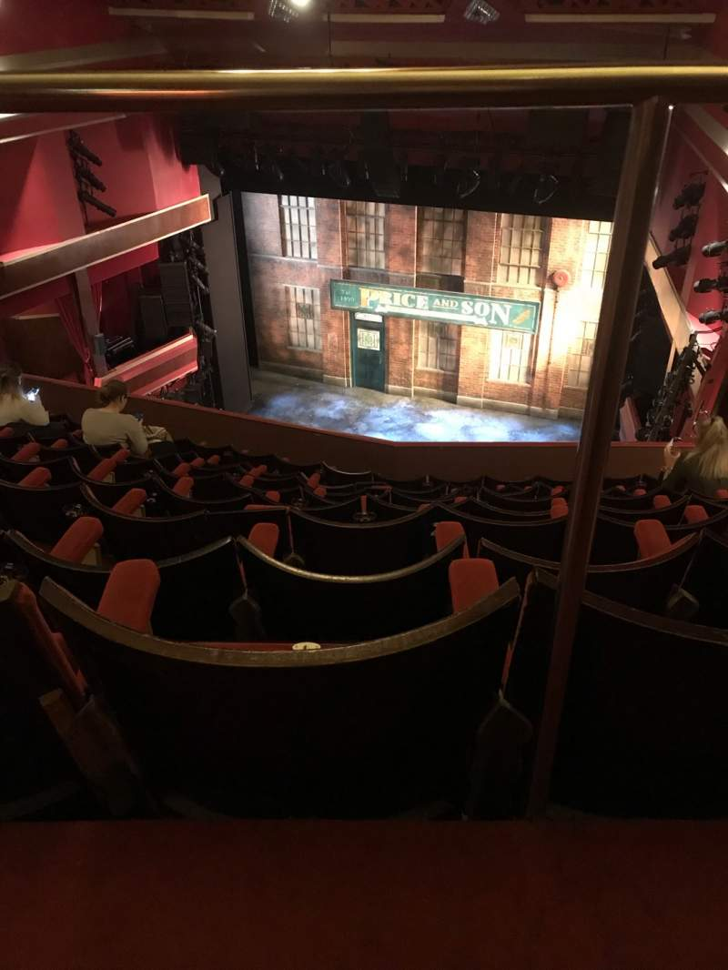 Seating view for Adelphi Theatre Section Upper Circle Row J Seat 7