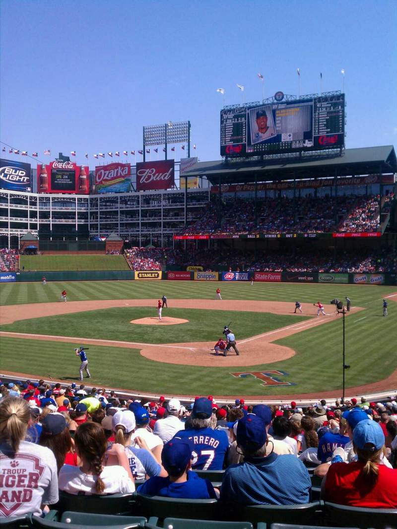 Seating view for Globe Life Park in Arlington Section 24 Row 25 Seat 9