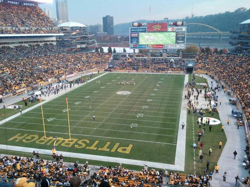 Seating view for Heinz Field Section 526 Row  F Seat  30