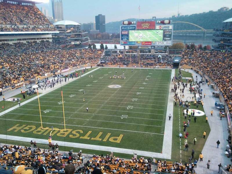 Seating view for Heinz Field Section 526 Row  M Seat  12