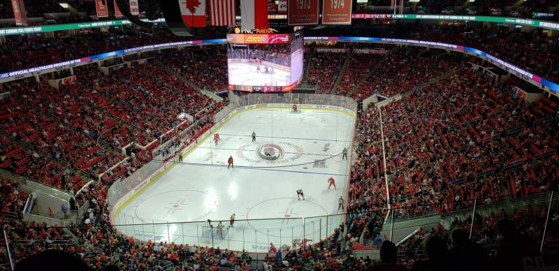 Seating view for PNC Arena Section 332 Row F Seat 17