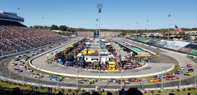 Seating view for Martinsville Speedway Section 105 Row 29 Seat 5