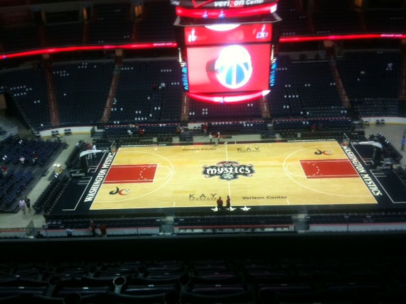 Seating view for Verizon Center Section 417 Row G Seat 12