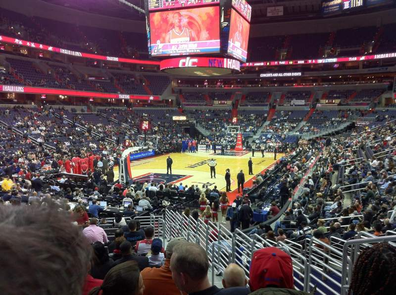 Seating view for Capital One Arena Section 107 Row R Seat 15