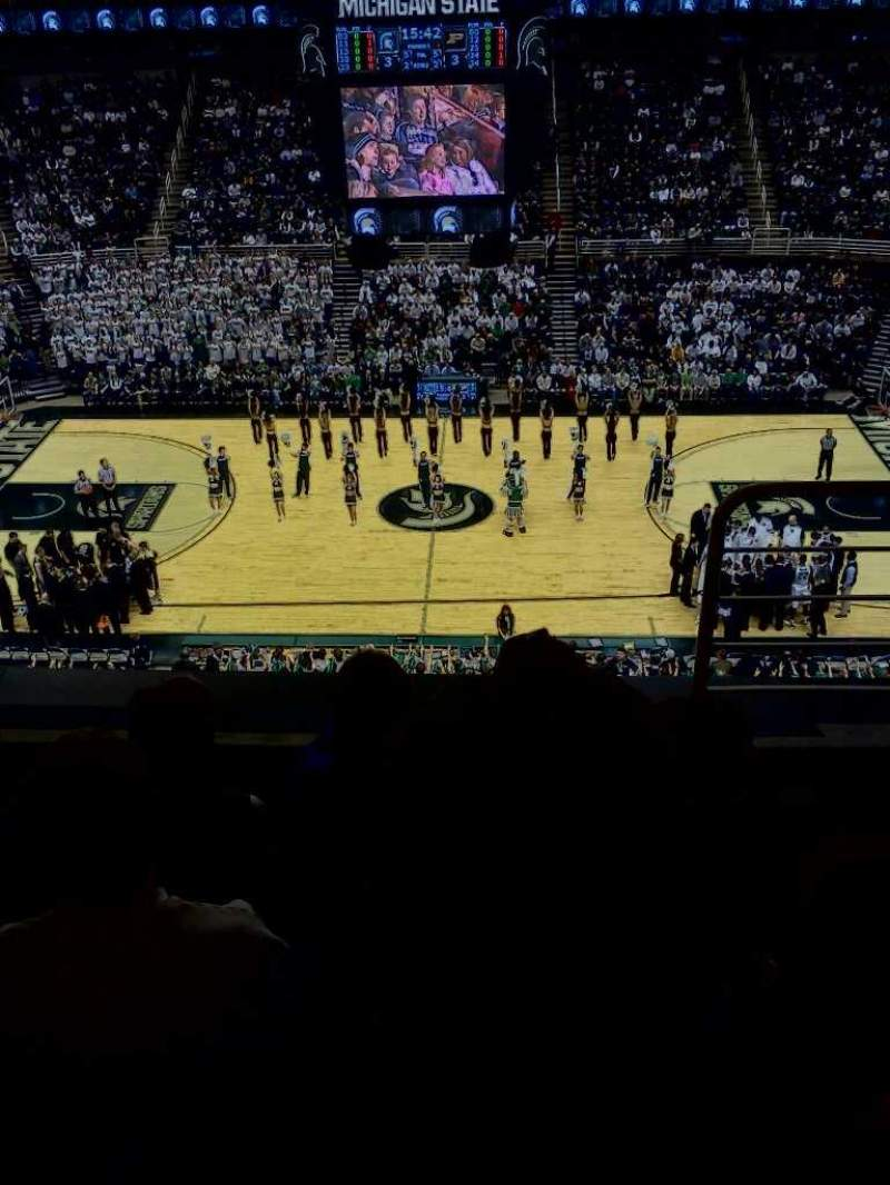 Seating view for Breslin Center Section 210 Row 3 Seat 1