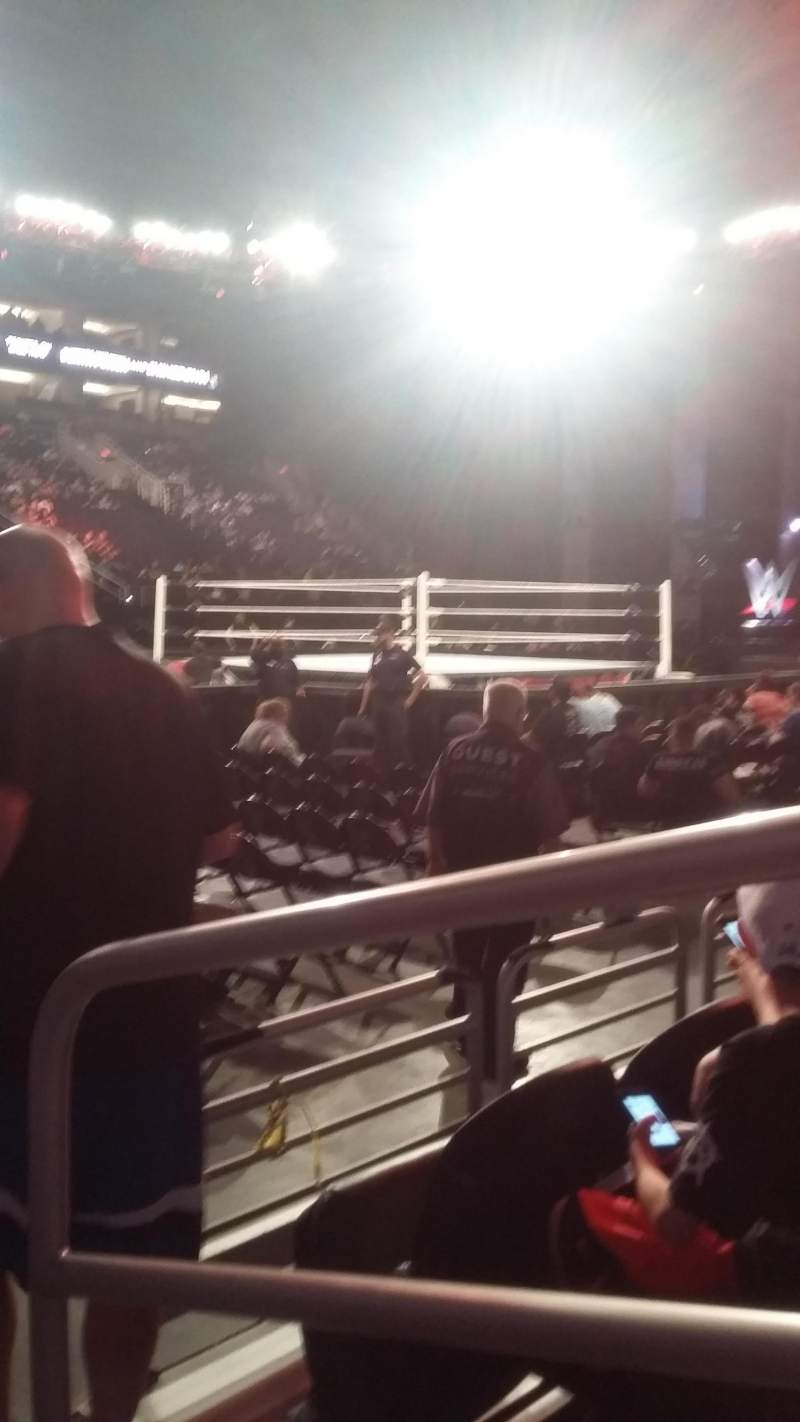 Seating view for PHX Arena Section 104 Row 3 Seat 1