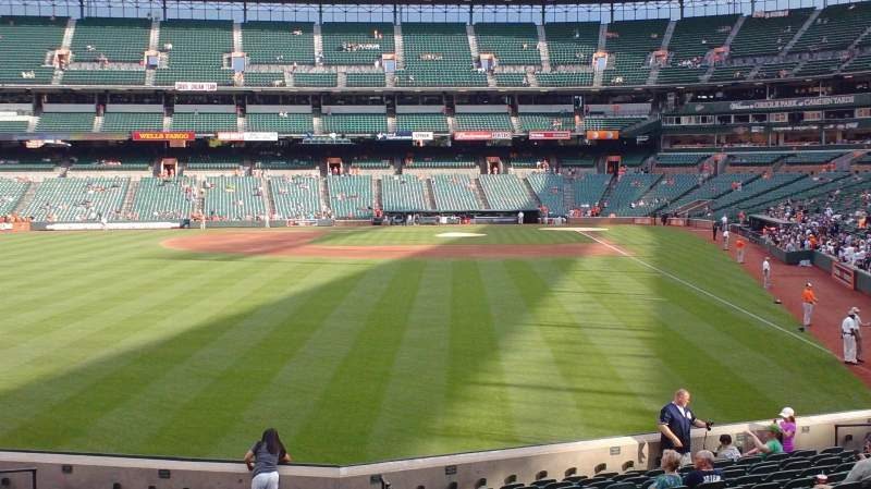 Seating view for Oriole Park at Camden Yards Section 78 Row 18 Seat 1