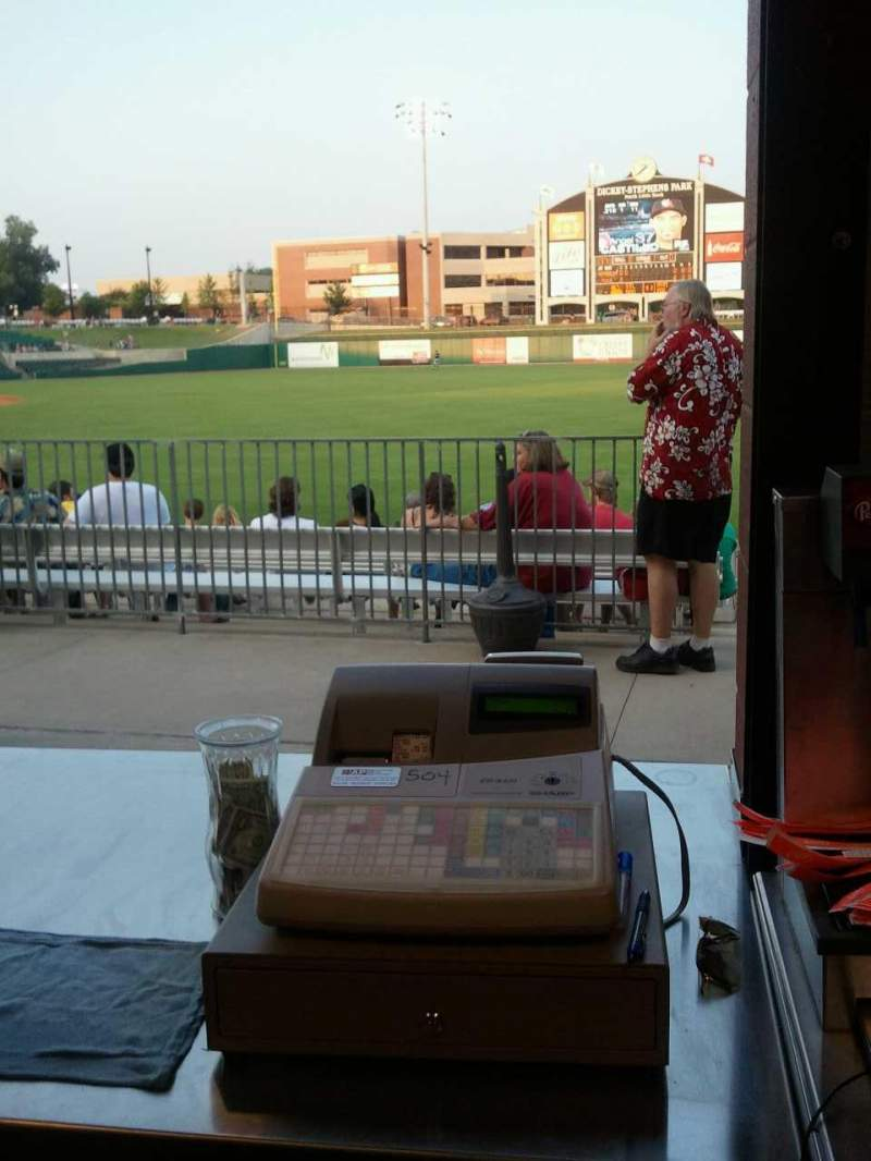 Seating view for Dickey-Stephens Park Section Beer Garden