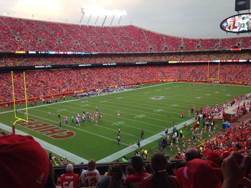 Seating view for Arrowhead stadium Section 231 Row 8 Seat 14