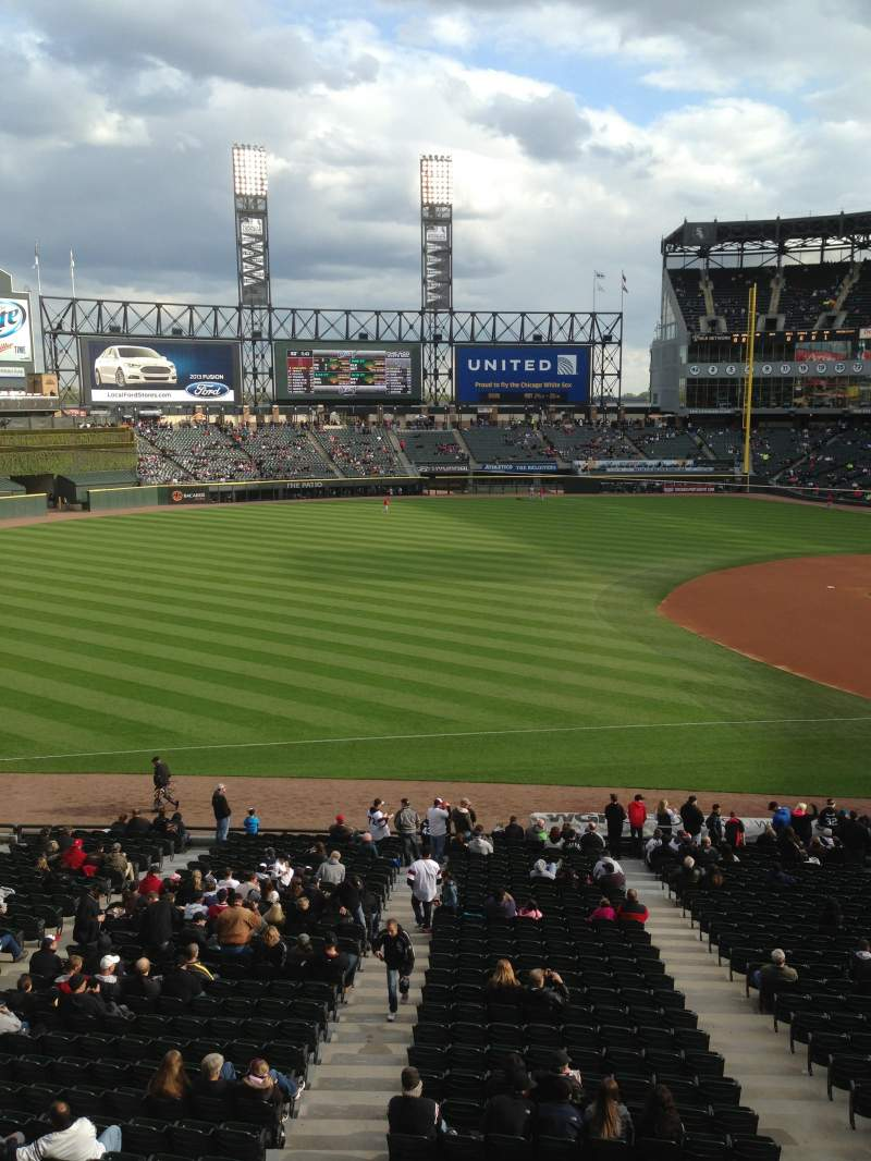 Seating view for Guaranteed Rate Field Section 248 Row 1 Seat 1