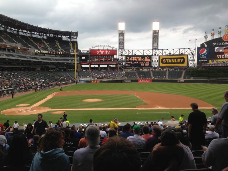 Seating view for U.S. Cellular Field Section 126 Row 33 Seat 7