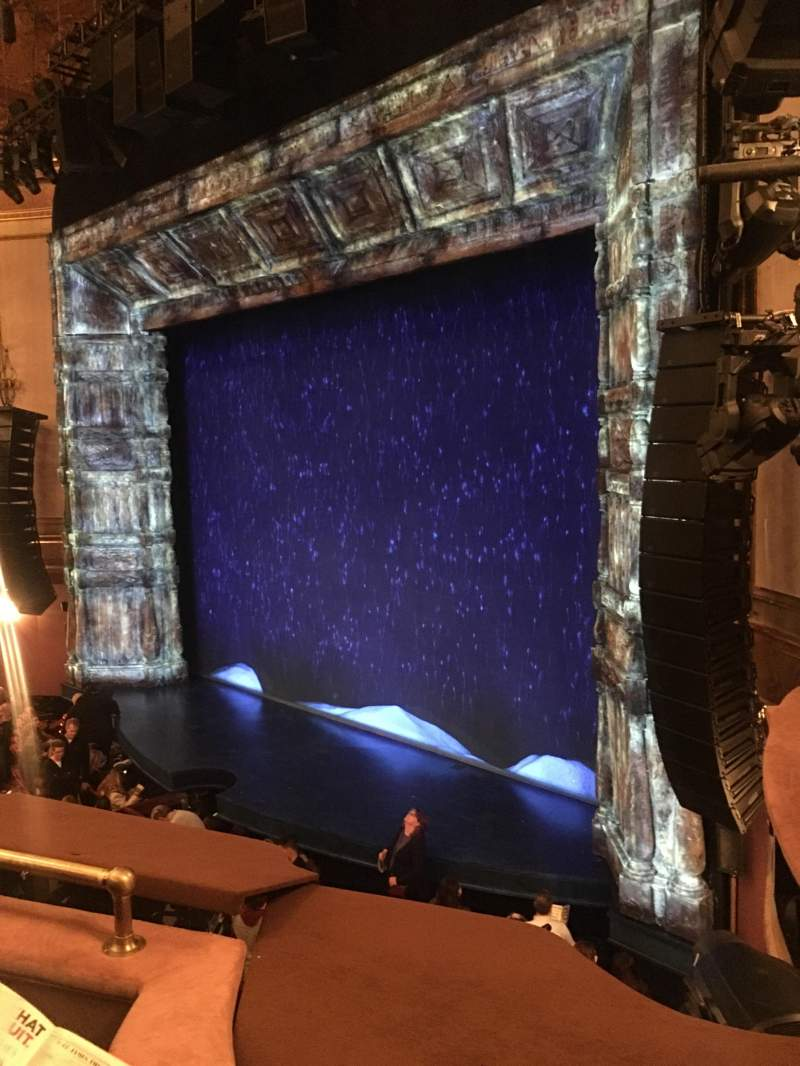 Seating view for St. James Theatre Section Mezzanine R Row C Seat 30