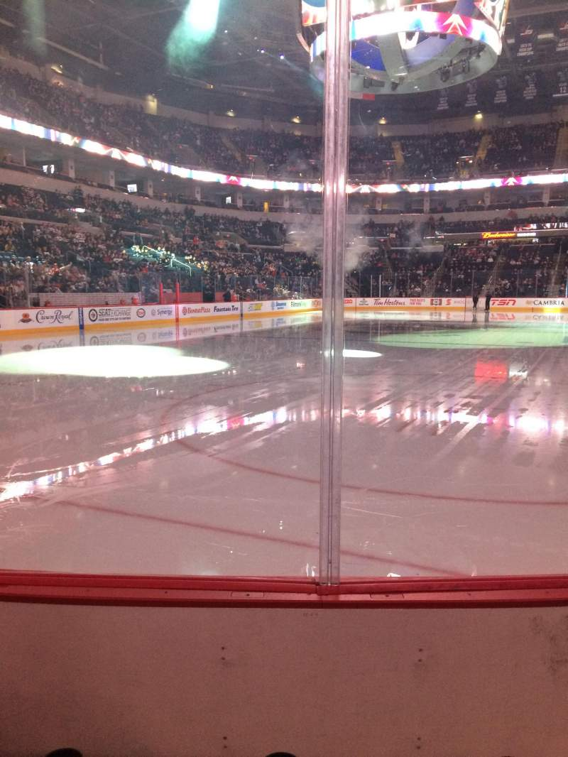Seating view for MTS Centre Section 111 Row 3