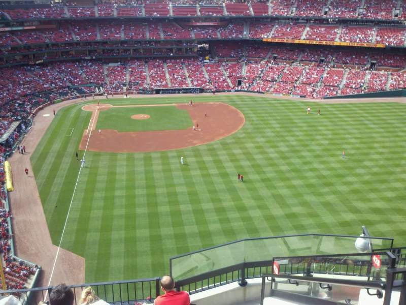 Seating view for Busch Stadium Section 429 Row 7 Seat 21