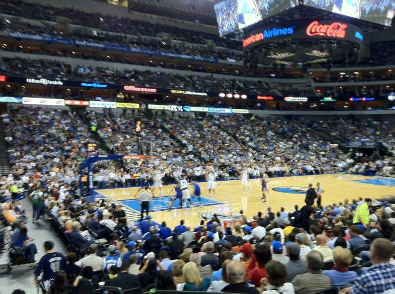 Seating view for American Airlines Center Section 121 Row L Seat 1-4