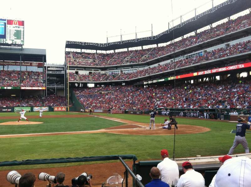 Seating view for Globe Life Park in Arlington Section 20 Row 5 Seat 15