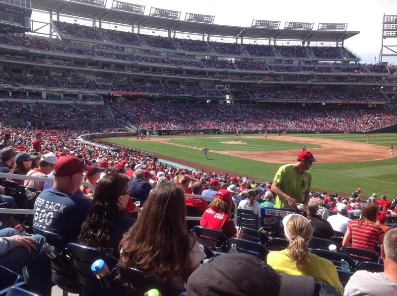 Seating view for Nationals Park Section 134 Row HH Seat 20