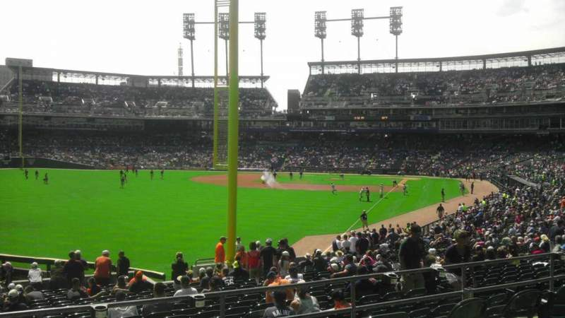Seating view for Comerica Park Section 144 Row aa Seat 14