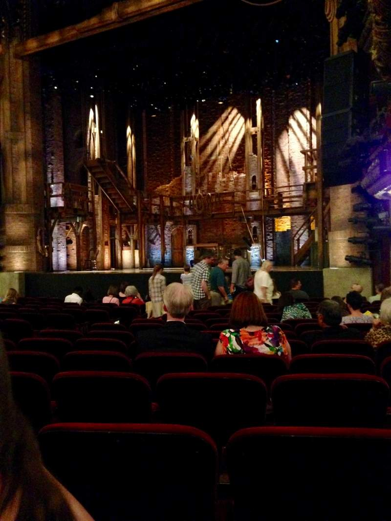 Seating view for CIBC Theatre Section Orchestra R Row Q Seat 14