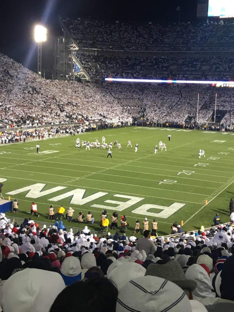 Seating view for Beaver Stadium Section NC Row 47 Seat 16