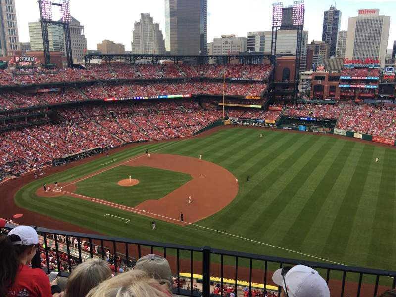 Seating view for Busch Stadium Section 439 Row 3 Seat 14