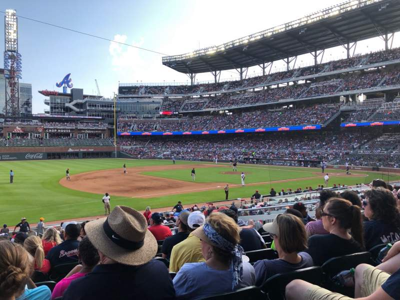 Seating view for SunTrust Park Section 137 Row 8 Seat 11