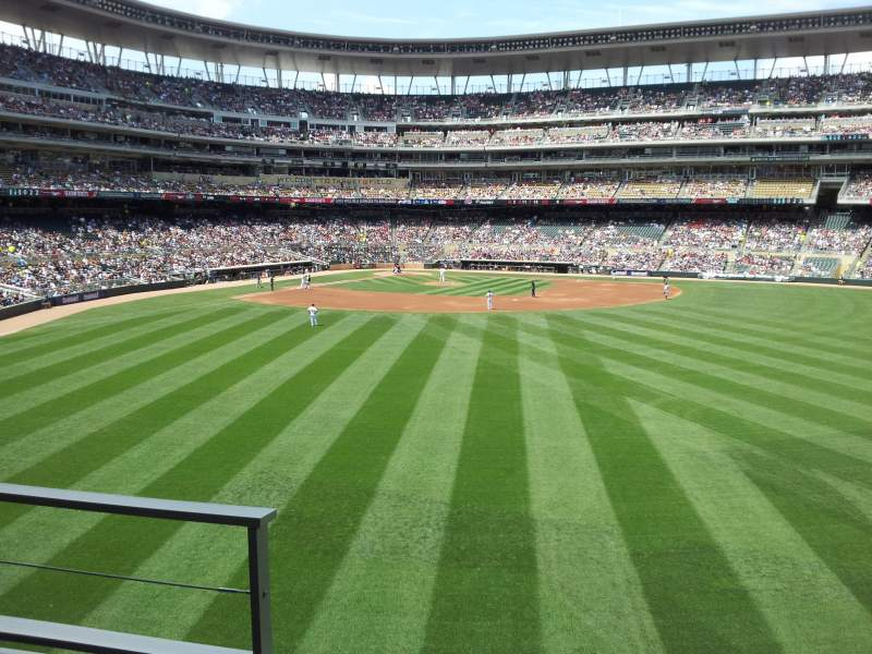 Seating view for Target Field Section 133 Row 2 Seat 23